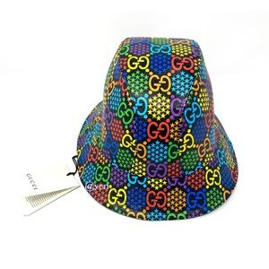 Gucci Gg Psychedelic Unisex Fedora hat size L
